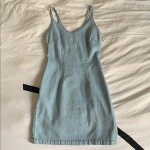 NEW‼️ ASOS Denim Strap Mini Dress